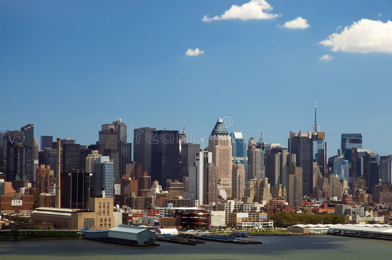 Download New York Skyline stock image. Image of silhouette, office - 180865