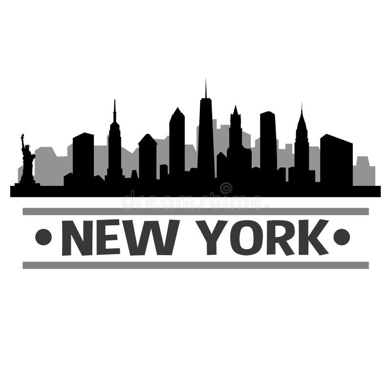 New York Skyline City Icon Vector Art Design stock illustration