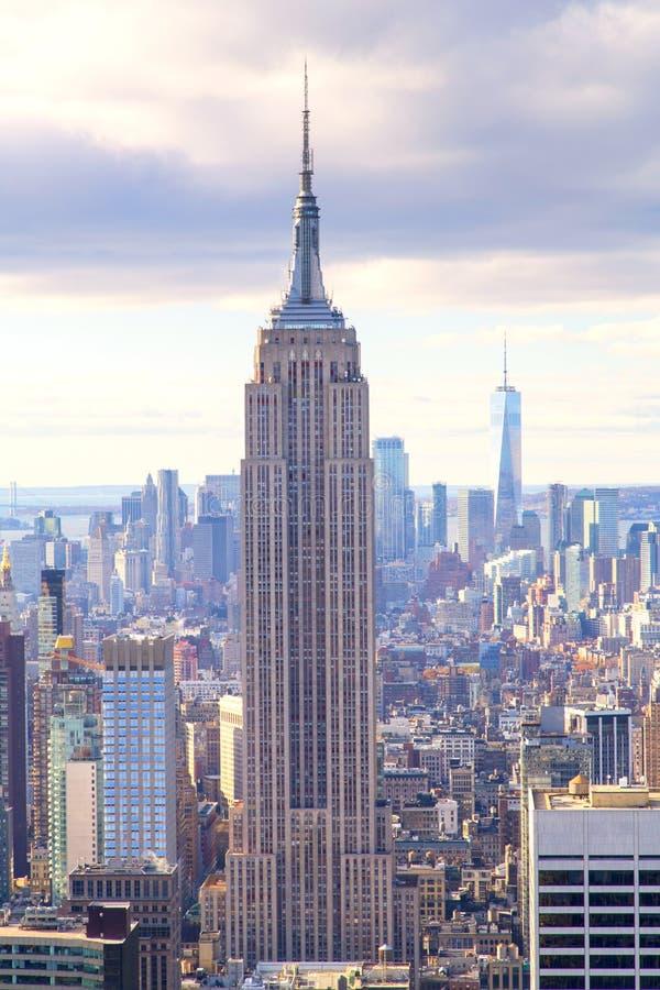 New York - skyline da parte superior da rocha fotografia de stock royalty free