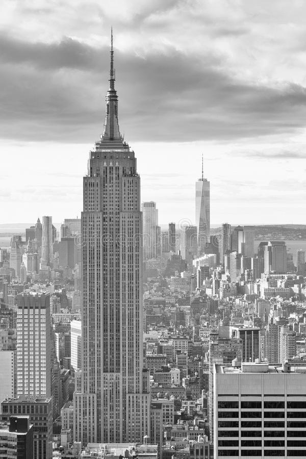 New York - skyline da parte superior da rocha foto de stock