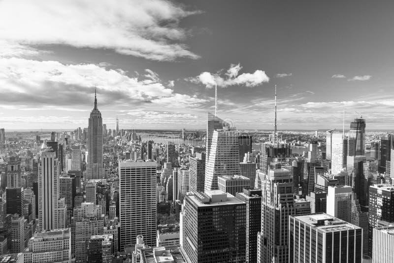 New York - skyline da parte superior da rocha fotos de stock