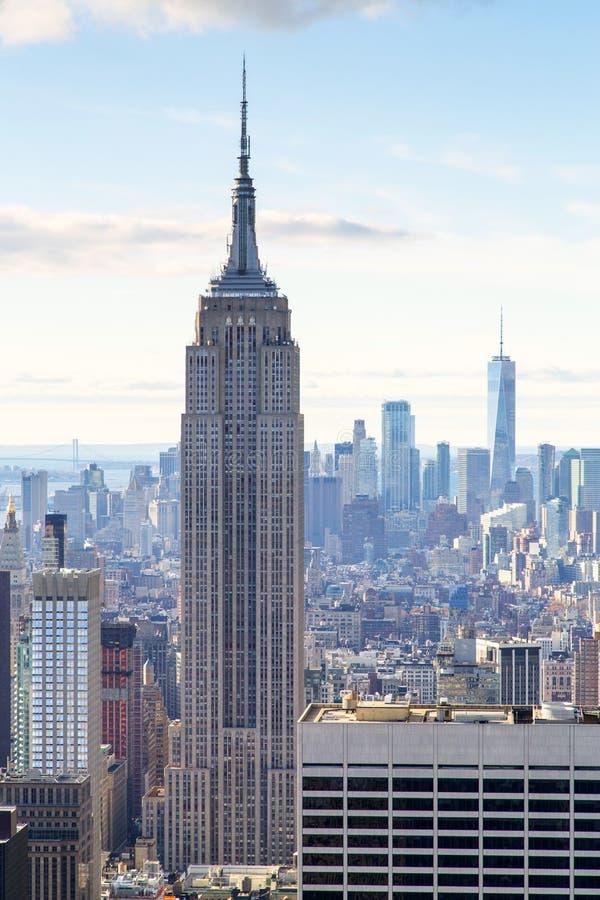 New York - skyline da parte superior da rocha fotos de stock royalty free