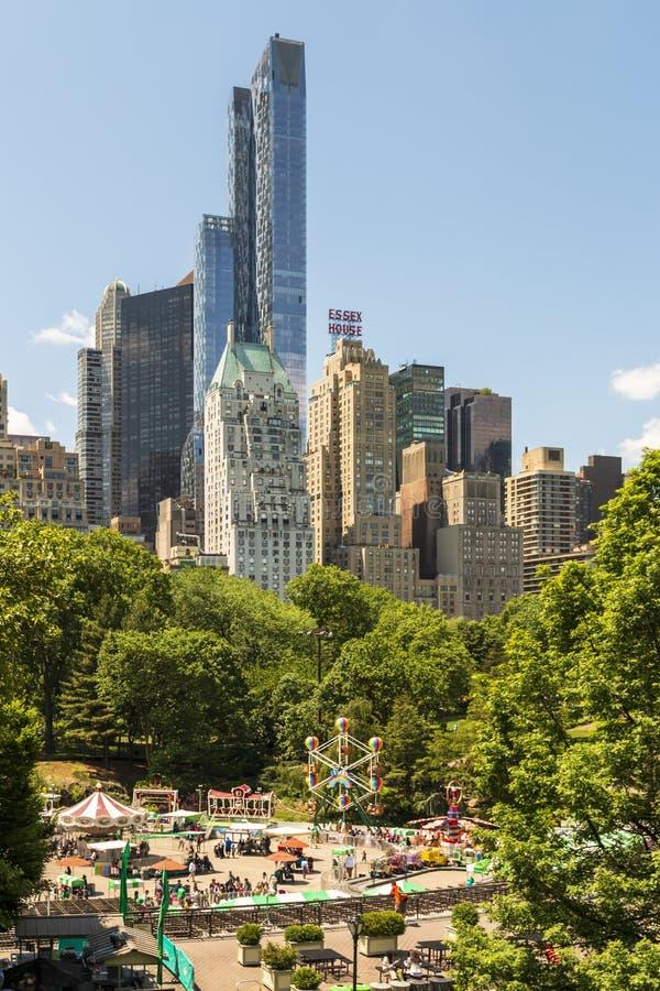 New York skyline från Central Park, New York City, Manhattan, Förenta staterna, Nordamerika royaltyfri fotografi