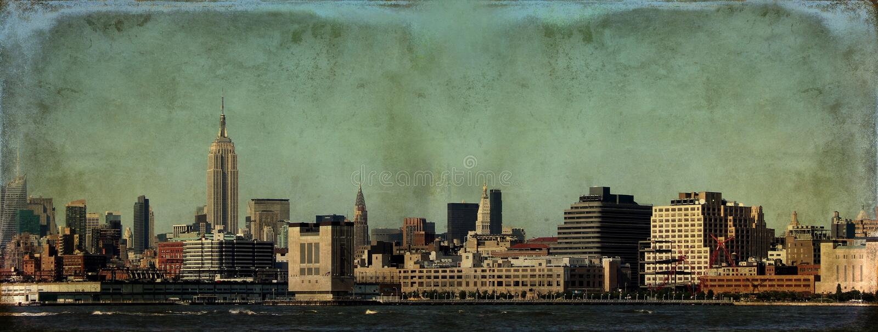 New York Skyline Grunge royalty free stock photography