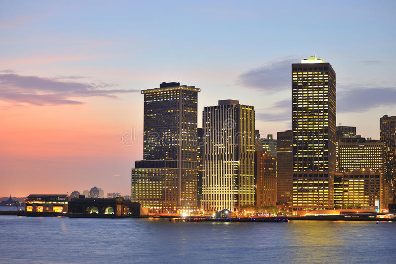 Download New York Skyline At Night Stock Photos - Image: 20785463