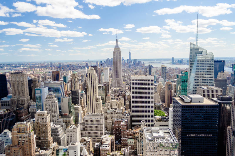 Download New York Skyline stock photo. Image of buildings, center - 32584006