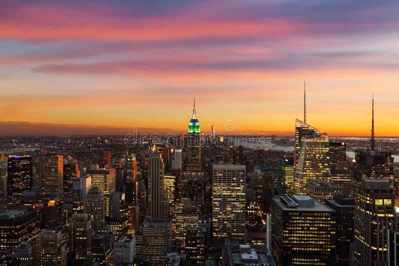 New-York skyline during sunset