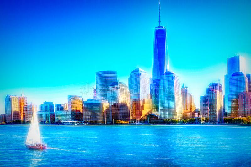 New York Skyline, United States of America royalty free stock images