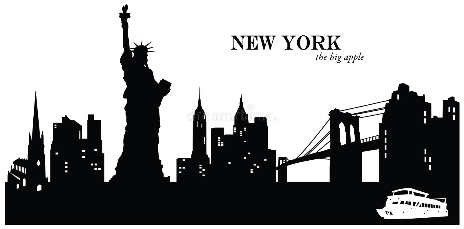 New York Skyline royalty free illustration