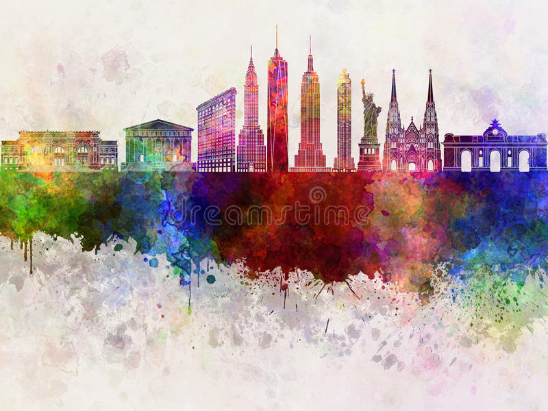 New York skyline in wb royalty free illustration