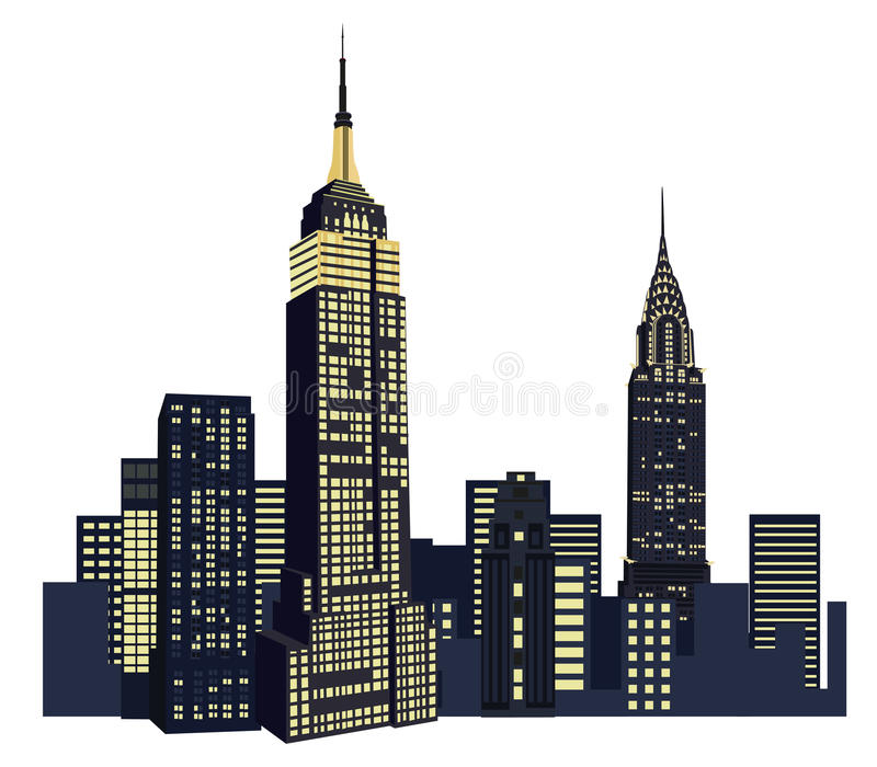 New York Skyscrapers royalty free illustration