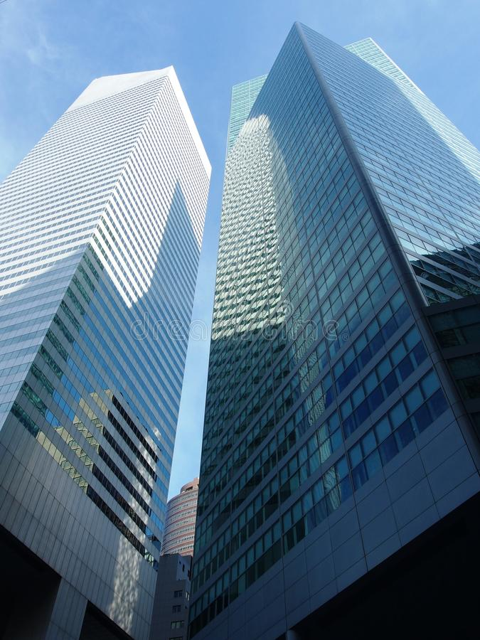New York Skyscrapers. In a daytime royalty free stock photo