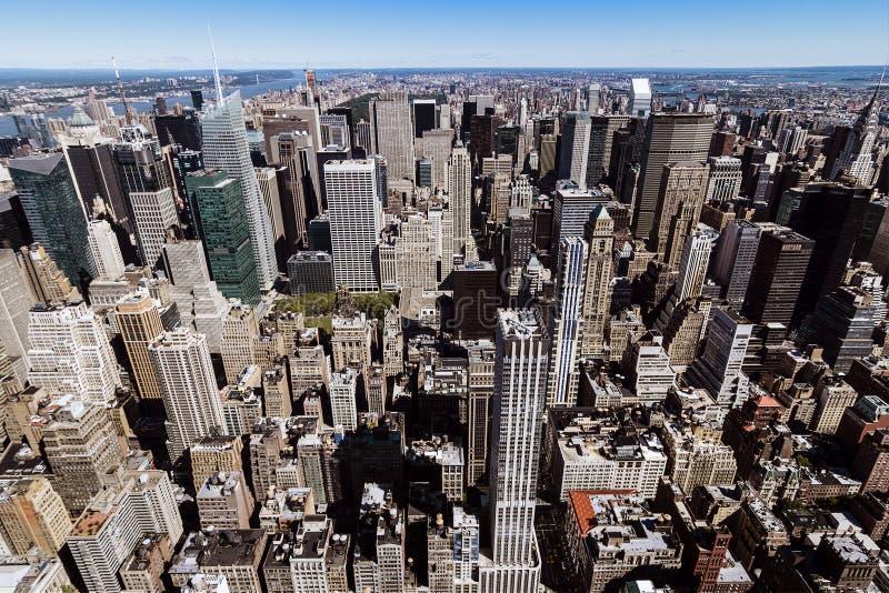 New York skyskrapor arkivfoton