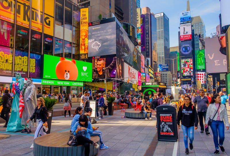 New York Square-4 tempo citt? fotografia stock libera da diritti