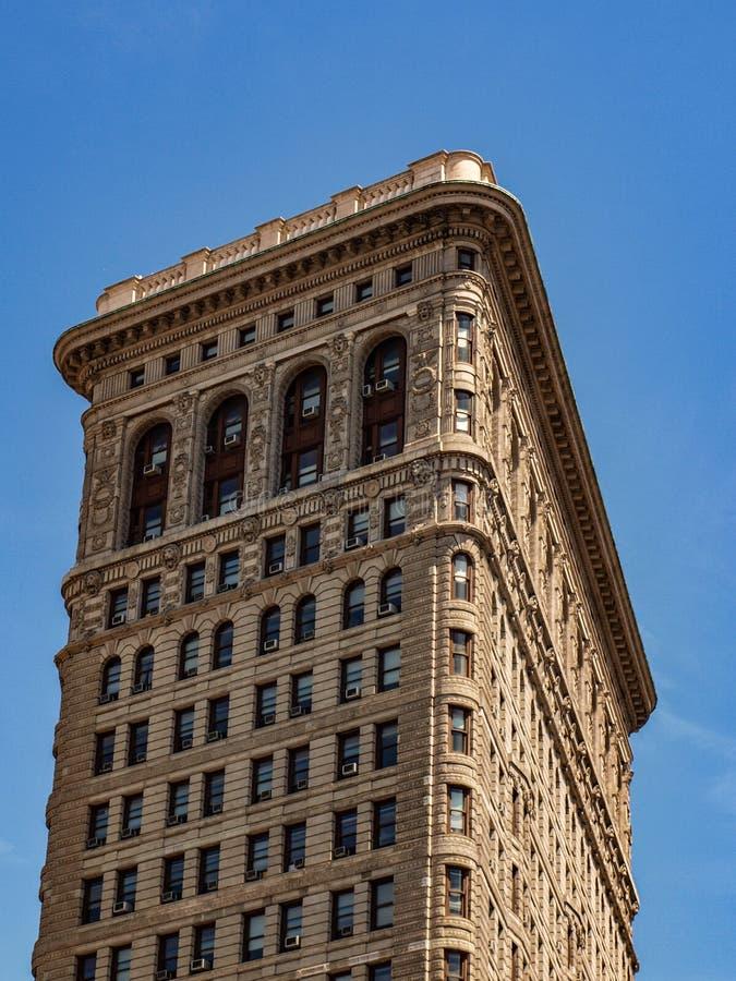 New- York - Staat-Rückseite auf Plätteisen-Gebäude in New York lizenzfreie stockfotografie