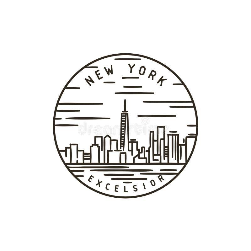 New York stadt stock abbildung