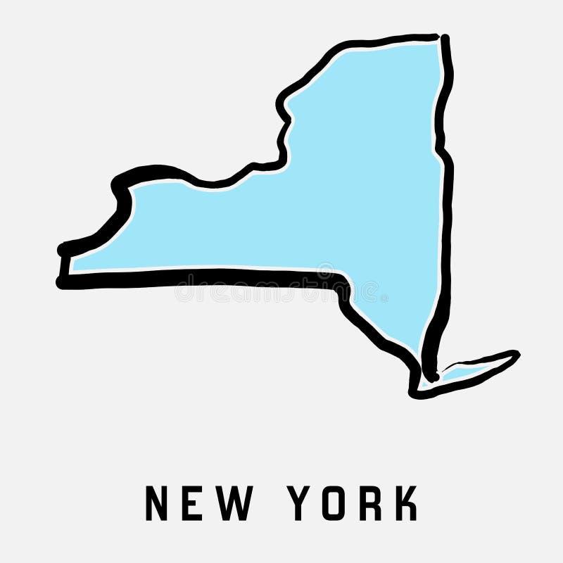 New York stat vektor illustrationer