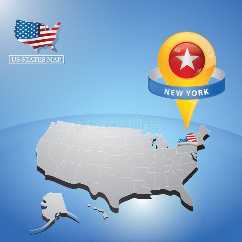 New york state on map of usa. Vector illustration decorative background design vector illustration