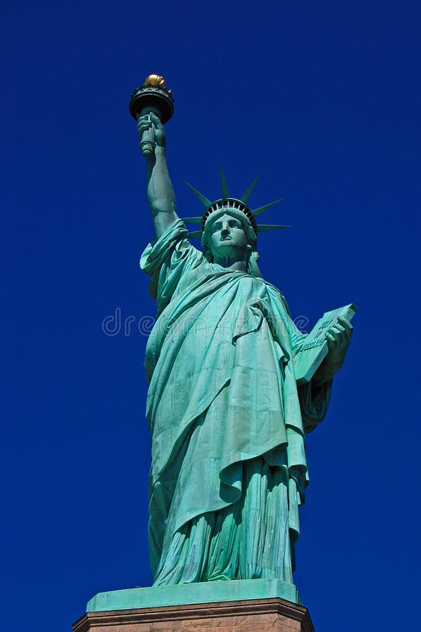 New York - Statue of Liberty Close-Up royalty free stock photos