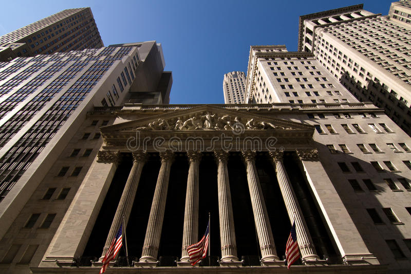 The New York Stock Exchange stock image