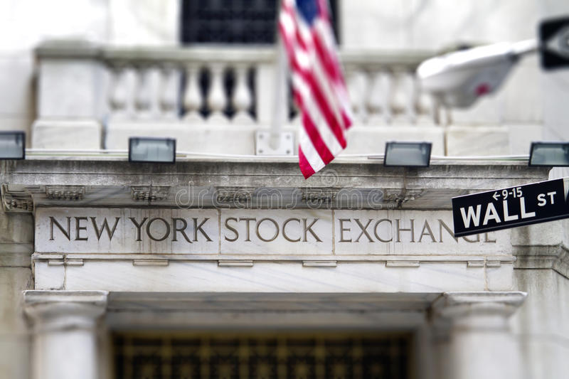 New York Stock Exchange fotografía de archivo