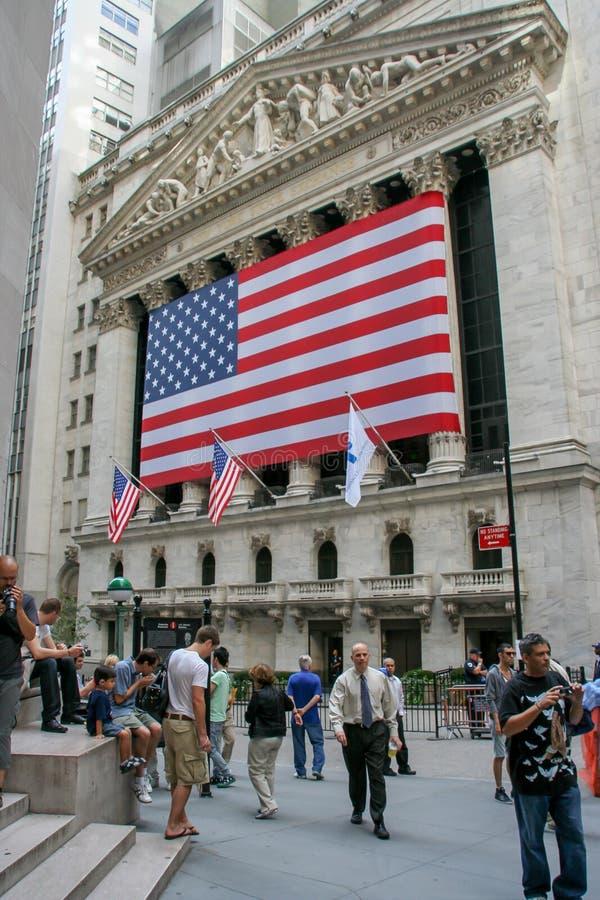 New York Stock Exchange budynek w W centrum Manhattan zdjęcie stock