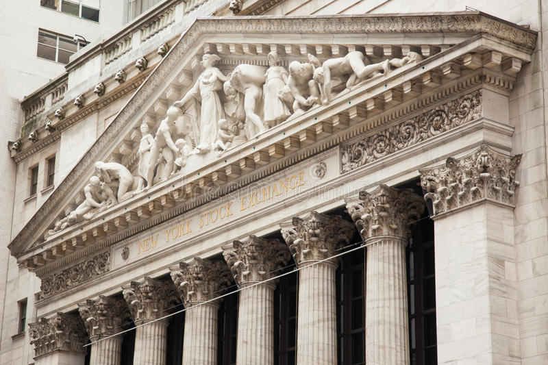 New York stock exchange building in Manhattan - USA - United sta royalty free stock image