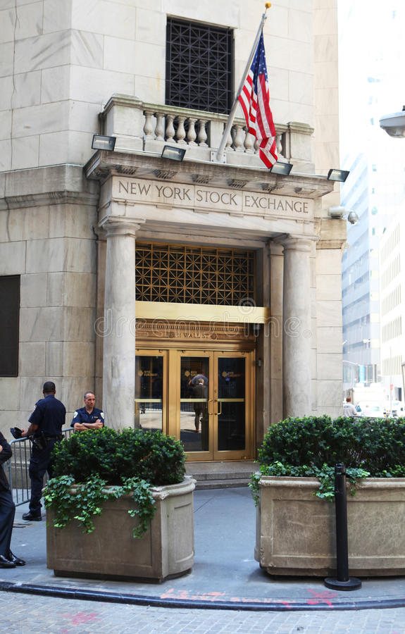 New York Stock Exchange Building. A New York Stock Exchange Building at Wall Steet, New York City, USA stock images