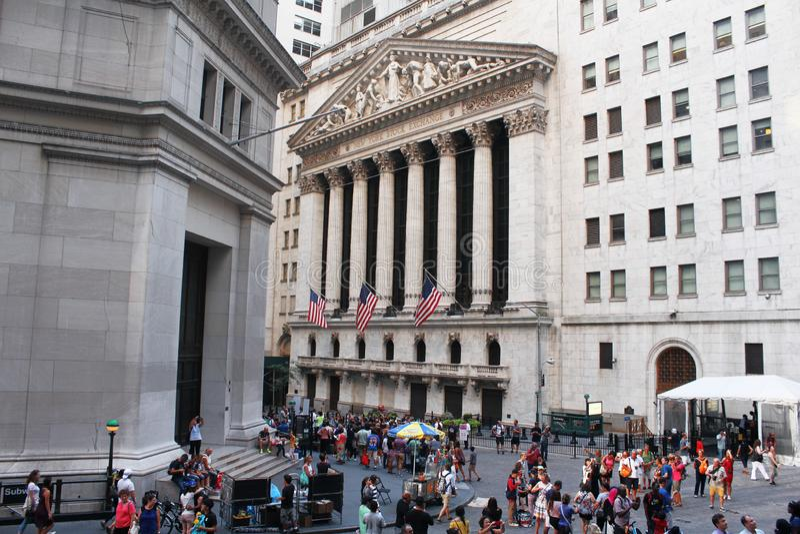 New York Stock Exchange en Lower Manhattan fotos de archivo