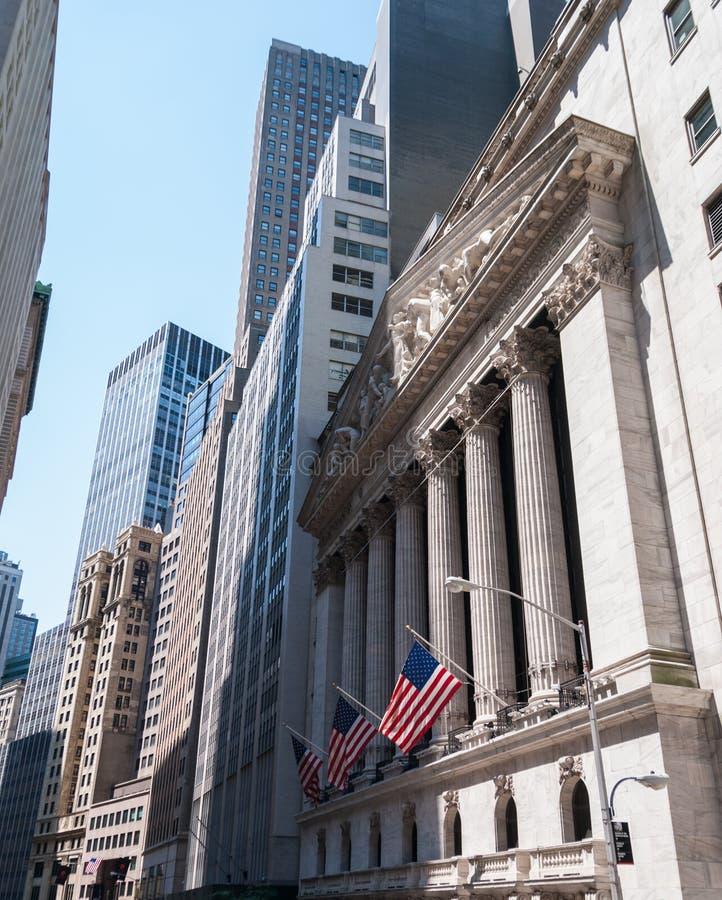 New York Stock Exchange. Famous New York Stock Exchange entrance royalty free stock photos