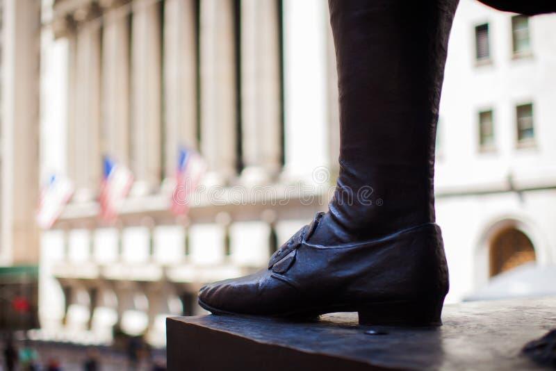New York Stock Exchange i Manhattan finansierar arkivfoton