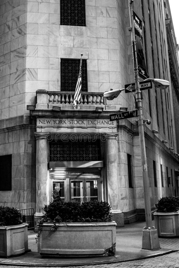 New York Stock Exchange Building. The New York Stock Exchange located on Wall Street, Manhattan, NYC royalty free stock images