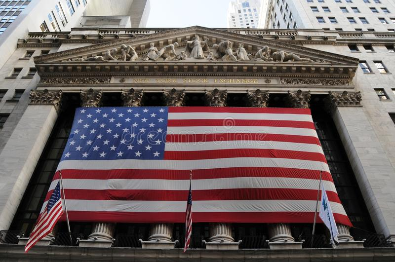 New york stock exchange. Perhaps could be called a classic, but nothing that the flag is not simple stock photos