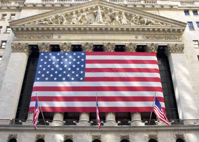 New York Stock Exchange sur Wall Street images stock