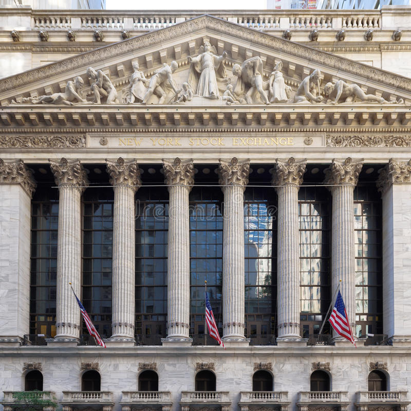 The New York Stock Exchange. In New York, USA. It is the largest stock exchange in the world stock images
