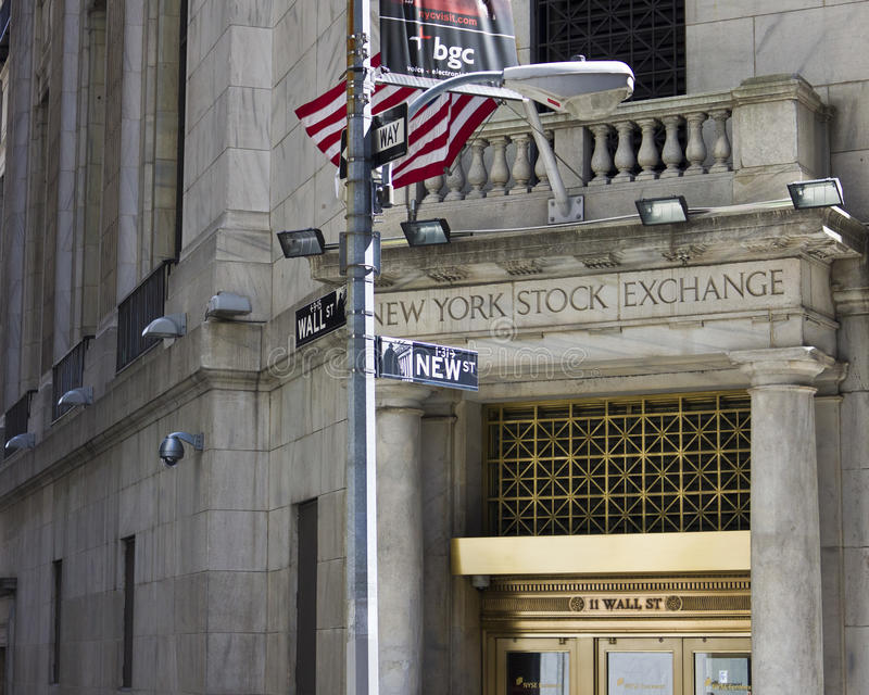 Download New York Stock Exchange Wall St Editorial Stock Photo - Image: 21067463