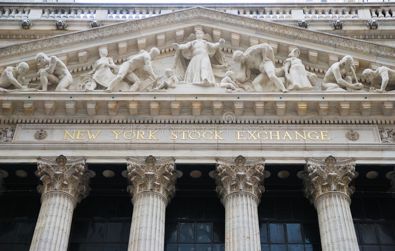 New York Stock Exchange, Wall Street royalty free stock images