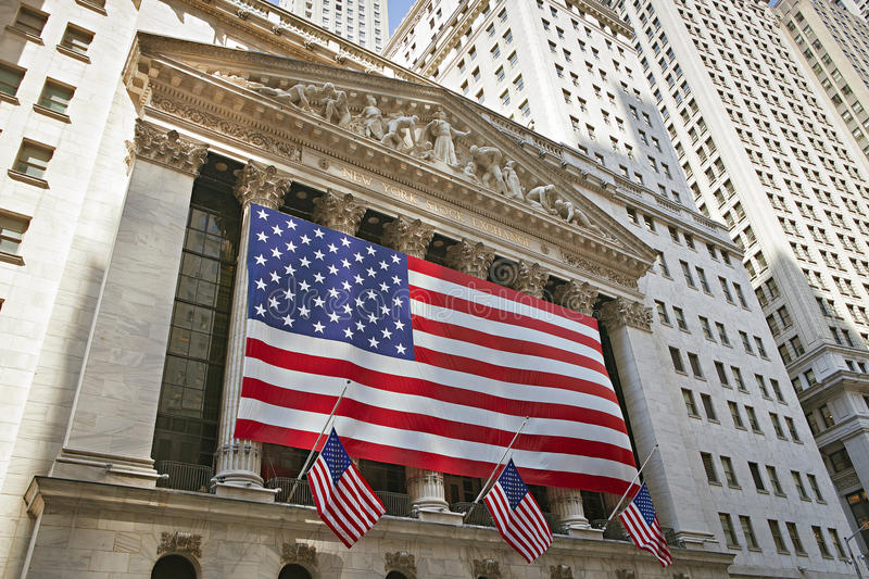 New York Stock Exchange - Wall Street photographie stock libre de droits
