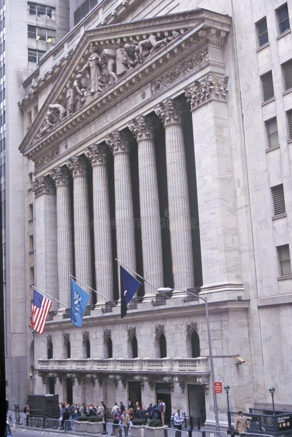 New York Stock Exchange, Wall Street, New York City, NY stockfotografie