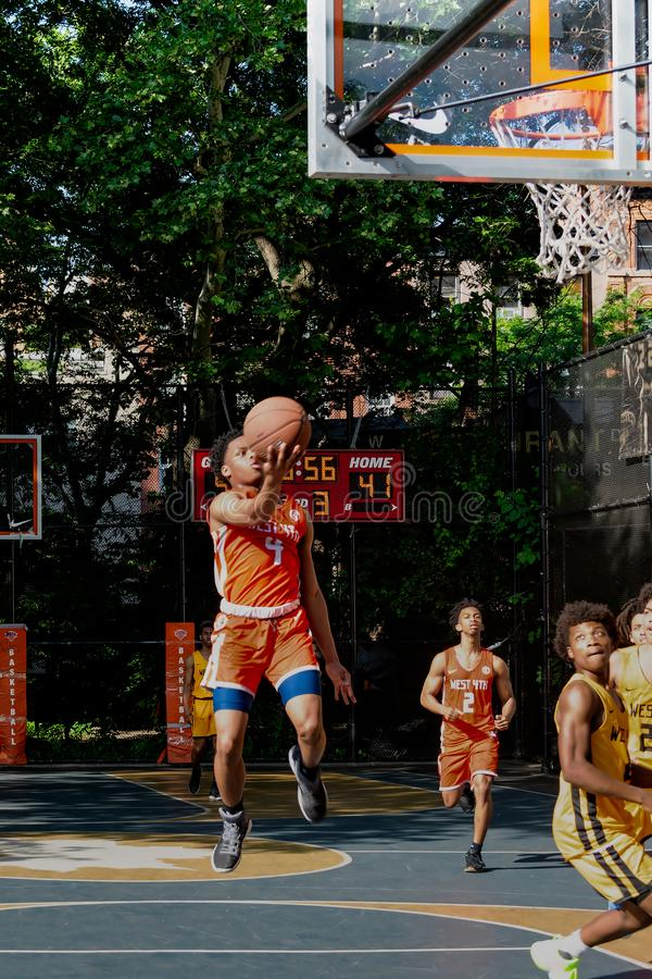 New York - Street Basketball at West 4th Street Courts stock photography