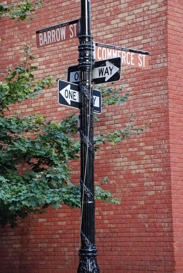 New york street signs stock photo