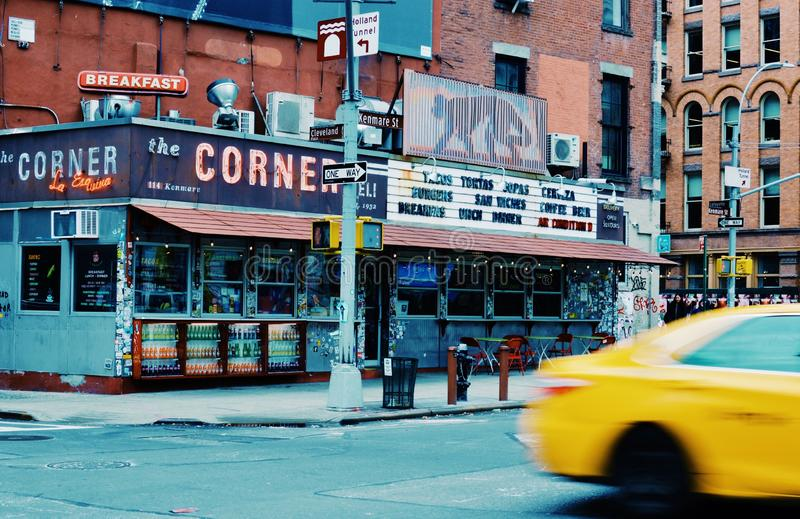 New York Streets Lower East Side Manhattan Busy Urban City stock photography