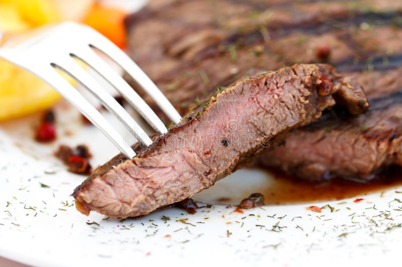 New York Strip Steak with Vegetables stock photo