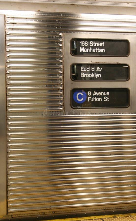 New york subway car stock photography