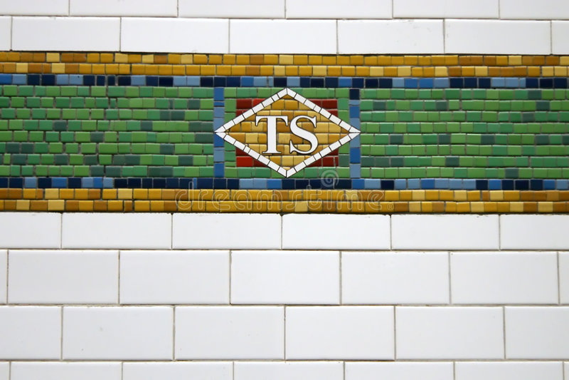 New York Subway Tile stock photo