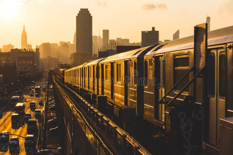 New York Subway Train stock image