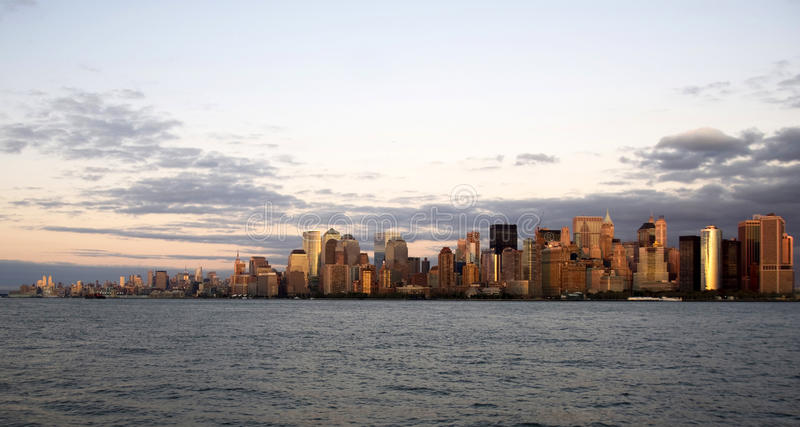 New York at the sunset stock photo