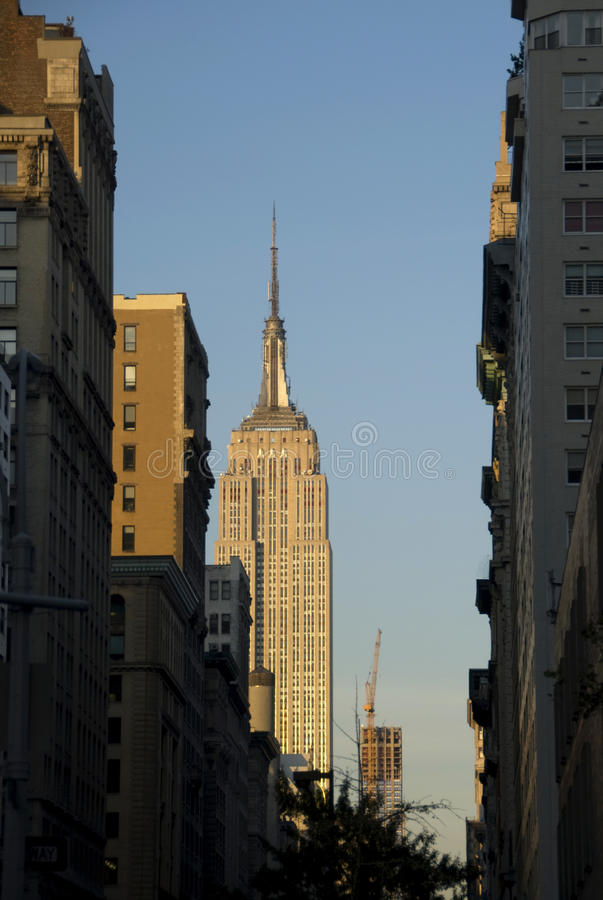 New York at the sunset stock images