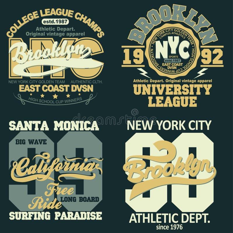 New York t-shirt graphics stock illustration