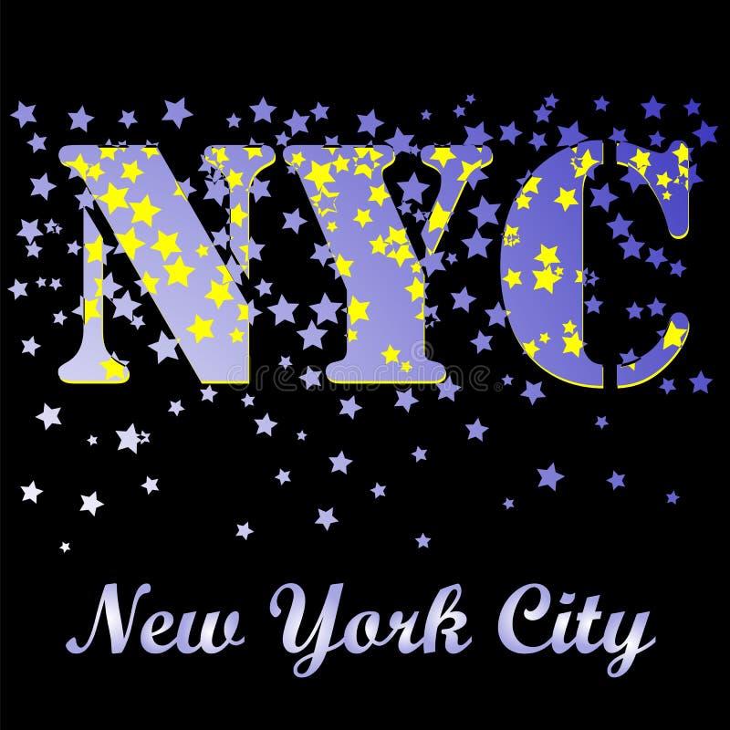 New York T-tröjaemblem Tappningsportmodell vektor illustrationer